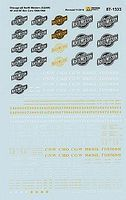 Microscale CNW 40 & 50 Boxcars Yellow & White Lettering 1944-1968 HO Scale Model Railroad Decal #871333