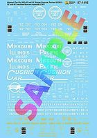 Microscale Missouri Pacific, Missouri-Illinois 50 & 60 Boxcars HO Scale Model Railroad Decal #871416