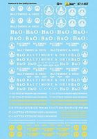 Microscale Baltimore & Ohio B&O Cabooses HO Scale Model Railroad Decal #871457
