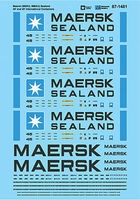 Microscale Maersk 40 & 45 Containers Decal Model Railroad Decals #871481