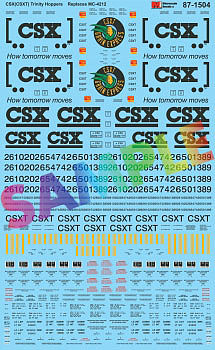 Microscale Inc CSX Trinity Covered Hoppers (Replaces #460-4212) -- HO Scale Model Railroad Decal -- #871504