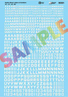 Microscale Alphabets & Numbers Gothic Block Letters 10 White HO Scale Model Railroad Decal #90301