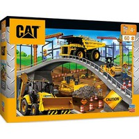 Masterpiece Caterpillar- Construction Vehicles Under the Bridge Puzzle (60pc)