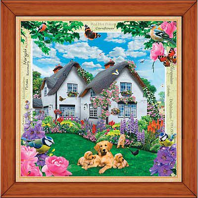 Masterpiece Delphinium Cottage 308pcs -- Jigsaw Puzzle 0-599 Piece -- #31514