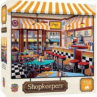 Masterpiece Shopkeepers- Pop's Soda Fountain Puzzle (750pc)
