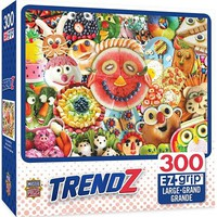Masterpiece Trendz- Funny Face Food Collage EzGrip Puzzle (300pc)
