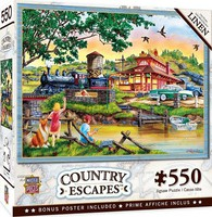Masterpiece Country Escapes- Apple Express Train Station by Lake Puzzle (550pc)
