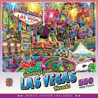 Masterpiece Greetings From- Las Vegas Collage Puzzle (550pc)