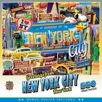 Masterpiece Greetings From- New York City The Big Apple Collage Puzzle (550pc)