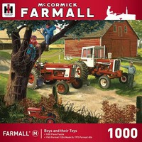 Masterpiece Farmall- Boys and Their Toys Tractors Farm Scene Puzzle (1000pc)