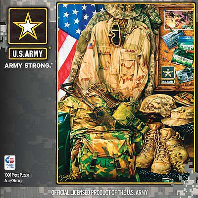 Masterpiece Army Strong 1000pcs -- Jigsaw Puzzle 600-1000 Piece -- #71512