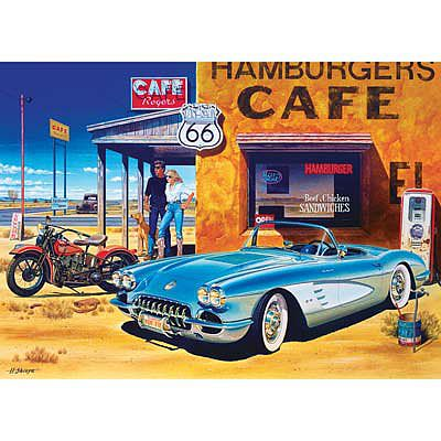 Masterpiece Route 66 Cafe 1000pcs -- Jigsaw Puzzle 600-1000 Piece -- #71517