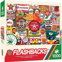 Masterpiece Flashbacks- Hit the Road Jack Gas Station Signs Collage Puzzle (1000pc)