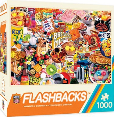 Masterpiece Flashbacks- Breakfast of Champions Collage Puzzle (1000pc)
