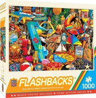 Masterpiece Flashbacks- Beach Time Flea Market Collage Puzzle (1000pc)