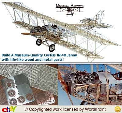 Model-Shipways Curtiss Jn-4d Jenny 1917 Model Airplane Kit 1/16 Scale #1010