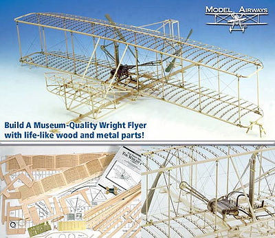 Model Shipways Wright Flyer -- Model Airplane Kit -- 1/16 Scale -- #1020
