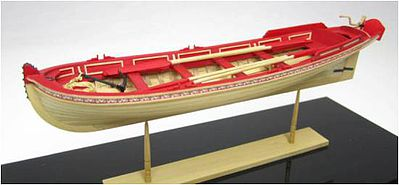 Model Shipways 21' English Pinnace 1750-1760 -- Wooden Model Ship Kit -- 1/24 Scale -- #1458