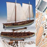 Model-Shipways HMS Bounty Launch Wooden Model Ship Kit 1/16 Scale #1850