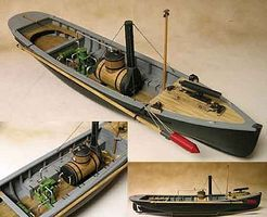 Model-Shipways USN Picket Boat #1 1864 Wooden Model Ship Kit 1/24 Scale #2261