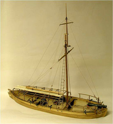 Model Shipways Gunboat Philadelphia 1776 -- Wooden Model Ship Kit -- 1/24 Scale -- #2263