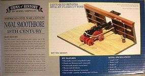 Model-Shipways Naval Smoothbore 18th Century Model Cannon Kit 1/24 Scale #4005
