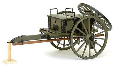 Model-Shipways US Civil War Caisson Ammunition Carriage Model Military Weapon Kit 1/16 Scale #4009