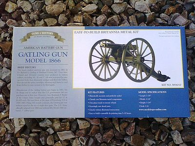 Model Shipways Gatling Gun Model 1866 -- Model Military Weapon Kit -- 1/16 Scale -- #4010