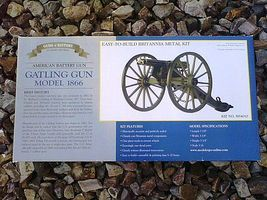 Model-Shipways Gatling Gun Model 1866 Model Military Weapon Kit 1/16 Scale #4010