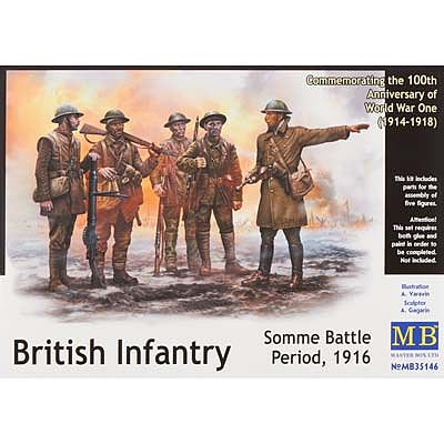 MasterBox BRIT INFANTRY SOMME BATTLE -35