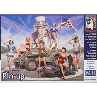 MasterBox 1/35 Pin-Up Women Posing in Legendary Style