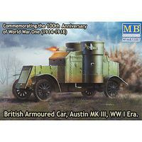MasterBox 1/72 British Armoured Car Austin Mk.III WWI