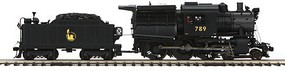 MTH-Electric O Hi-Rail 4-6-0 Camelback w/PS3, CNJ #789