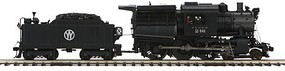 MTH-Electric O Hi-Rail 4-6-0 Camelback w/PS3, NYO&W