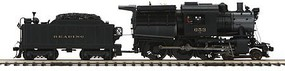 MTH-Electric O Hi-Rail 4-6-0 Camelback w/PS3, RDG #653