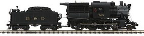 MTH-Electric O Hi-Rail 4-6-0 Camelback w/PS3, B&O #765
