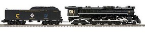 MTH-Electric O Hi-Rail 4-8-4 Greenbrier w/PS3, Chessie #614T