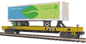 MTH-Electric O Flat w/40' Trailer, TTX #97465