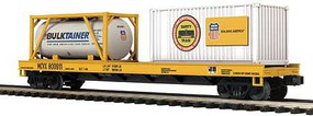MTH-Electric O Flat w/Tank Container & 20' Container,UP #800911