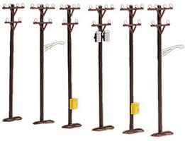 MTH-Electric O Telephone Pole Set (6)