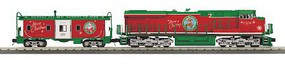 MTH-Electric O-27 Imperial ES44AC &Caboose/PS3,Christmas/Rd/Grn