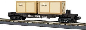 MTH-Electric O-27 Flat w/2 Crates, NS
