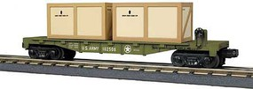 MTH-Electric O-27 Flat w/2 Crates, US Army