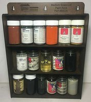 Motrack Scalecoat Paint Rack Laser-Cut Masonite Kit Holds 18 2oz Bottles 11 x 2-1/2 x 14-1/2''  27.9 x 6.4 x 36.8cm