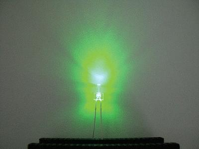 Miniatronics Corp. Clear Tower LED 2mm Dia. Green (5) -- Model Railroad Light Bulb -- #1282205