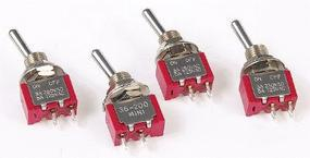 Miniatronics SPST Miniature Toggle Switches On-Off (4) Model Railroad Electrical #3620004