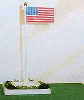 Miniatronics Waving American Flag 48 Stars (Pre 1959) O Scale Model Railroad Accessory #9054801