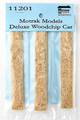Motrak Woodchip Loads for Deluxe Woodchip Hopper (3-Pack) N Scale Model Train Freight Car Load #11201
