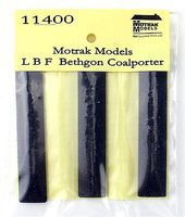 Motrak Resin Coal Loads LBF/IRC BethGon Hopper (3 Pack) N Scale Model Train Freight Car Load #11400