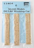Motrak Woodchip Loads LBF/IRC Woodchip Hopper (3 Pack) N Scale Model Train Freight Car Load #11404